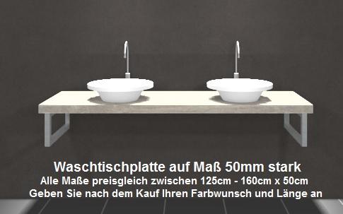 waschtischplatte f r aufsatzwaschbecken waschtisch ebay. Black Bedroom Furniture Sets. Home Design Ideas